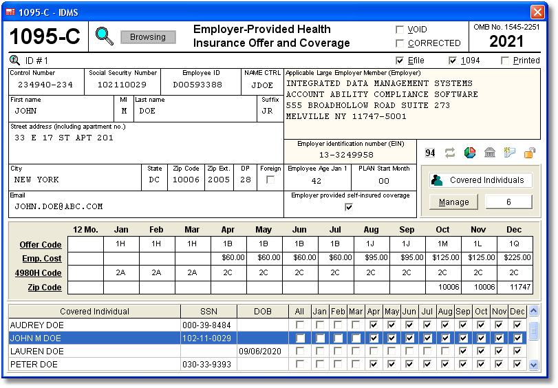 Account Ability 1095-C Compliance Software