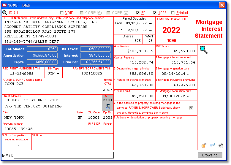 Account Ability 1098 Compliance Software