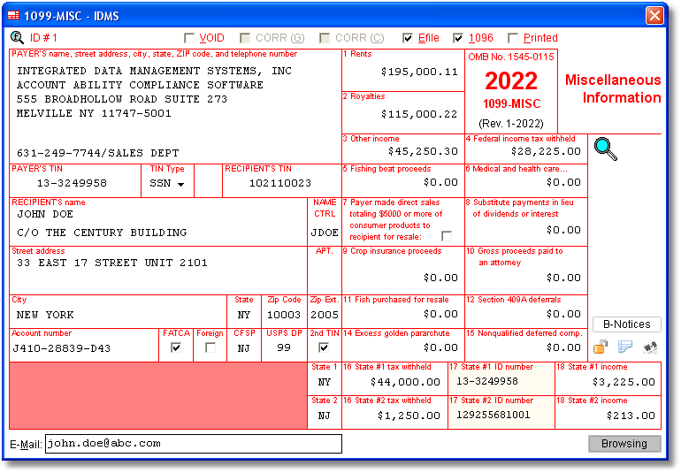 Account Ability 1099-MISC Compliance Software