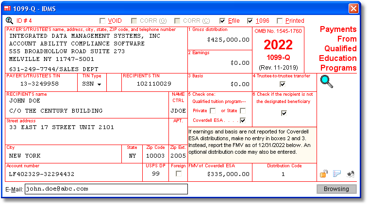 Account Ability 1099-Q Compliance Software